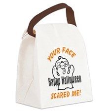 Halloween Scary Face Canvas Lunch Bag