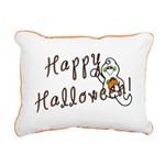 Happy Halloween Ghost Rectangular Canvas Pillow