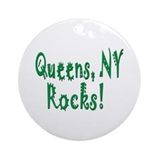 Queens NY Rocks! Ornament (Round)