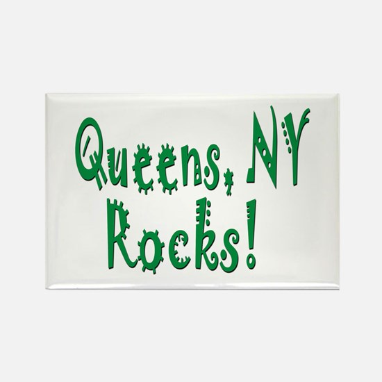 Queens NY Rocks! Rectangle Magnet (100 pack)
