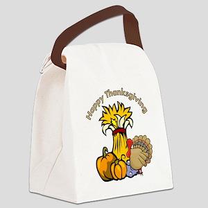 Happy Thanksgiving Pumpki... Canvas Lunch Bag