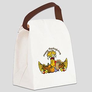 Thanksgiving Pumpkins Canvas Lunch Bag