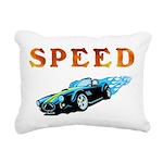 speed car Rectangular Canvas Pillow