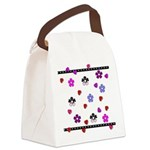Hearts and Flowers Canvas Lunch Bag