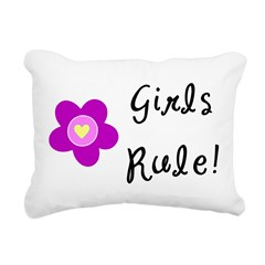 Girls Rule Rectangular Canvas Pillow
