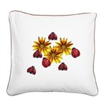 Ladybug Party Square Canvas Pillow