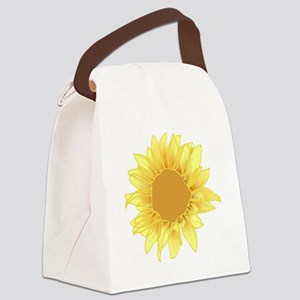 sunflower alone 2200 Canvas Lunch Bag