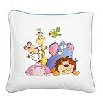 Jungle Animals Square Canvas Pillow