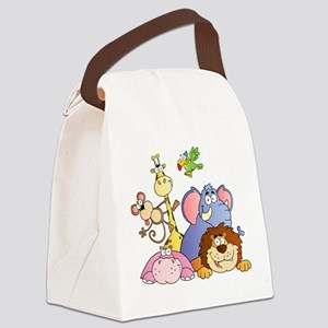 Jungle Animals Canvas Lunch Bag