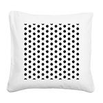 Polka Dots Square Canvas Pillow