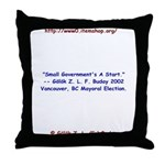 Small Government's A Start Throw Pillow