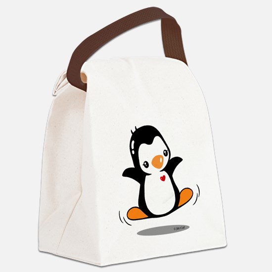Happy Penguin (2) Canvas Lunch Bag