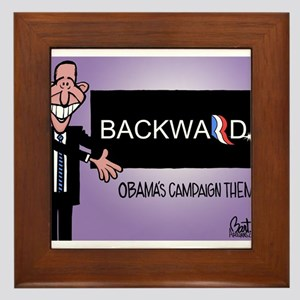 Obama's Campaign Theme Framed Tile