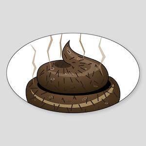Poo Sticker (Oval)