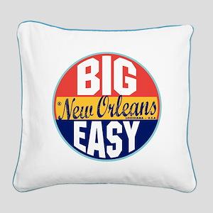 New Orleans Vintage Label Square Canvas Pillow