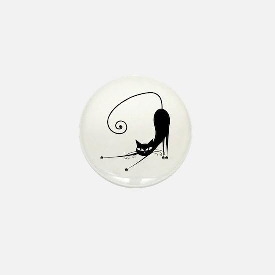 Black Cat Mini Button