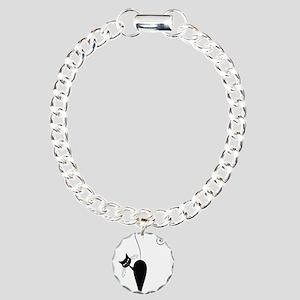 Black Cat Charm Bracelet, One Charm