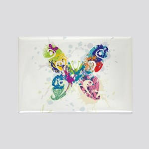 Colorful Butterfly Rectangle Magnet