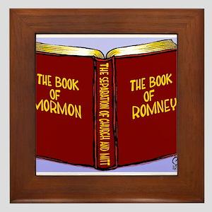 Book of Mormon/Romney Framed Tile