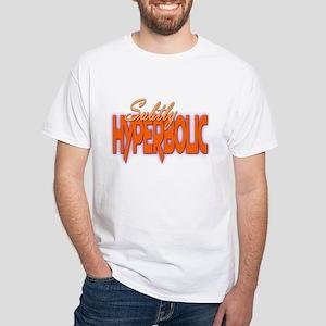 Subtly Hyperbolic White T-Shirt