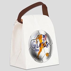 USA Girls Soccer Canvas Lunch Bag