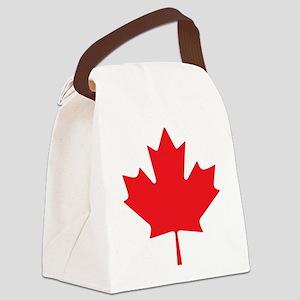 Canadian Maple Leaf Canvas Lunch Bag