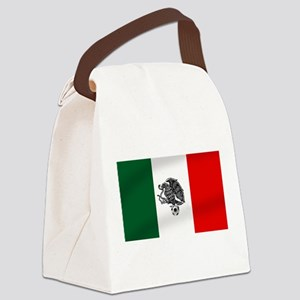 Mexican Soccer Flag Canvas Lunch Bag