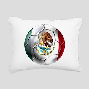 Mexican Soccer Ball Rectangular Canvas Pillow