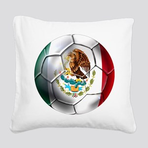 Mexican Soccer Ball Square Canvas Pillow