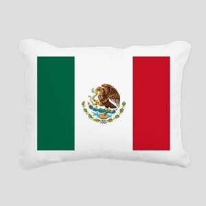 Mexican Flag Rectangular Canvas Pillow