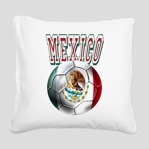 Futbol Mexicano Square Canvas Pillow