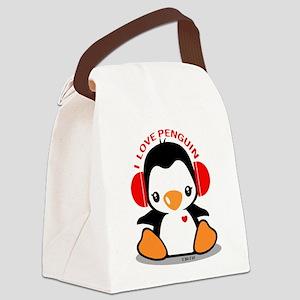 I Love Penguin (1) Canvas Lunch Bag