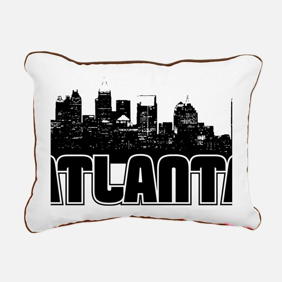 Atlanta Skyline Rectangular Canvas Pillow