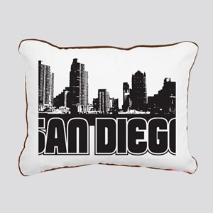 San Diego Skyline Rectangular Canvas Pillow