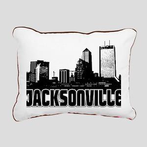 Jacksonville Skyline Rectangular Canvas Pillow