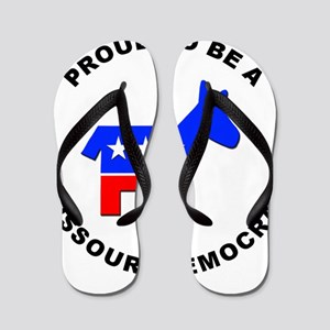 Missouri Democrat Pride Flip Flops