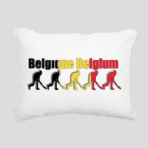 Belgium Field Hockey Rectangular Canvas Pillow