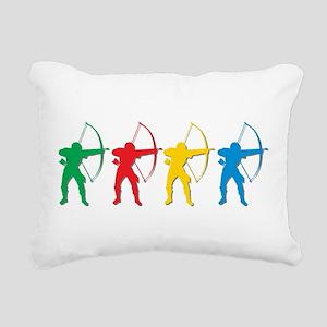 Archery Archers Rectangular Canvas Pillow