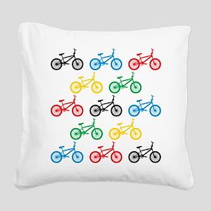 BMX Bikes Square Canvas Pillow