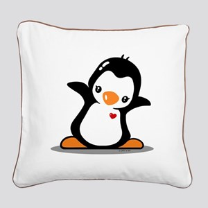 Hey Penguin! Square Canvas Pillow