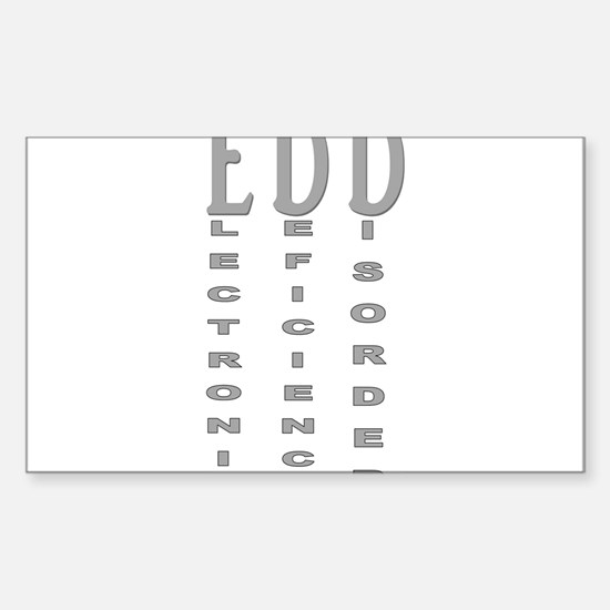 Electronic Deficiency Disorder Sticker (Rectangle)