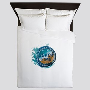 North Carolina - Ocean Isle Beach Queen Duvet