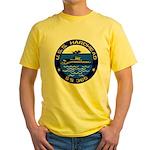 USS HARDHEAD Yellow T-Shirt
