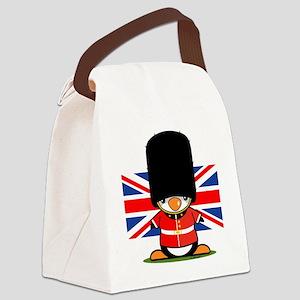 British Soldier Penguin Canvas Lunch Bag