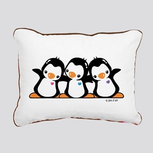 Penguins (together) Rectangular Canvas Pillow