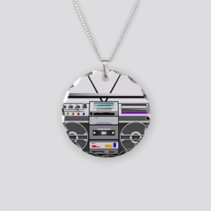 boombox1 Necklace Circle Charm