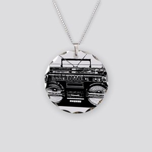 boombox3 Necklace Circle Charm