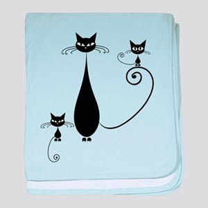 Black Cat baby blanket