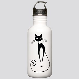 Black Cat Stainless Water Bottle 1.0L