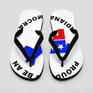 Indiana Democrat Pride Flip Flops